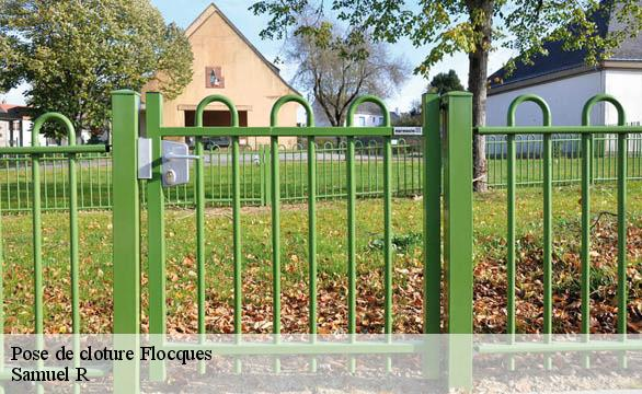 Pose de cloture  flocques-76260 Renold Elagage